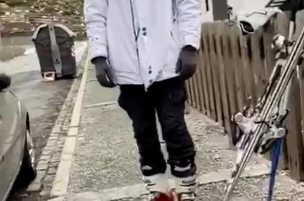 Vídeo: En pleno coronavirus la policía pilla a un hombre en Sierra Nevada que iba esquiar