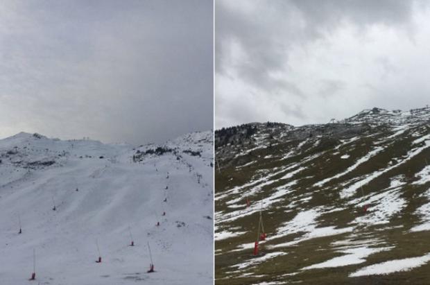 Candanchú y Astún retrasan su apertura por falta de nieve