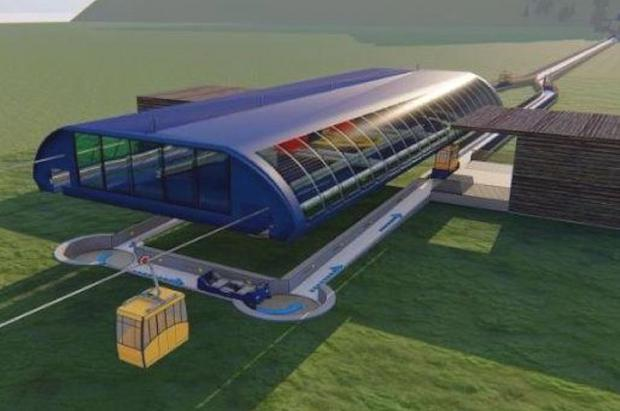 Millonario proyecto de telecabina en las Dolomitas que viajaría por aire y carretera