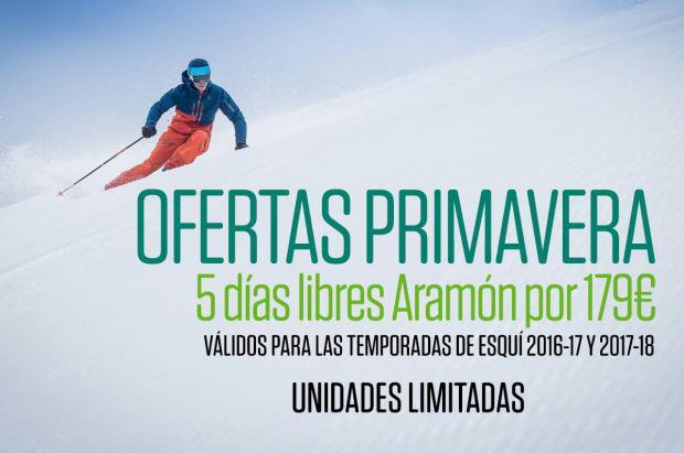 Aramón celebra la primavera con ofertas en los forfaits de 5 días y más promociones