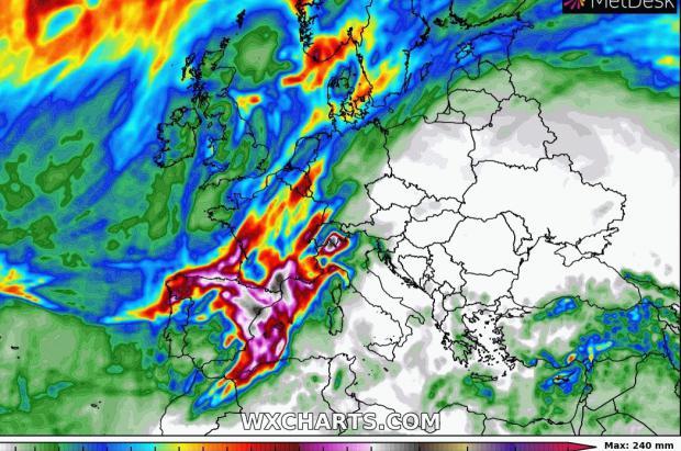 Previsión Meteo: Llega un brusco cambio de tiempo con algunas nevadas y lluvias intensas