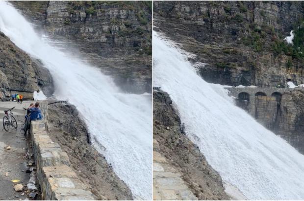 Una avalancha en la carretera bloquea a 13 ciclistas en el Glacier National Park de Montana