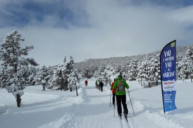 Las estaciones nórdicas catalanas reciben 55.000 esquiadores esta temporada, el mejor dato en años