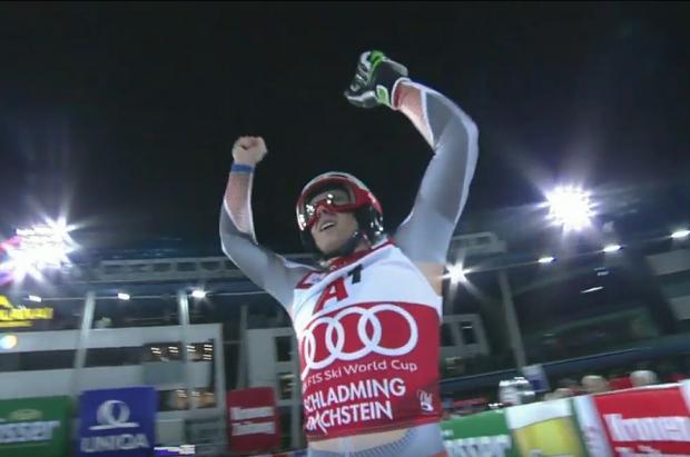 La bajada imposible de Henrik Kristoffersen que le lleva a la victoria en el slalom de Schladming