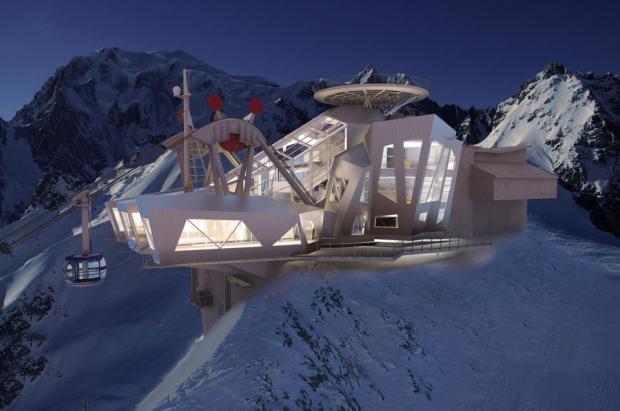 El nuevo Teleférico en el Funivie Monte-Bianco ó cómo vivir en directo una mega construcción