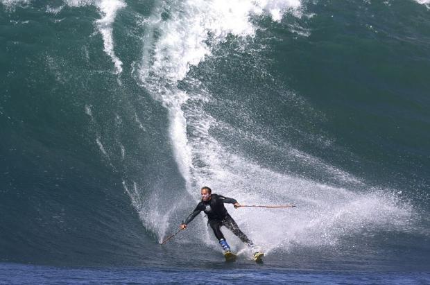 JAWS: esquiando en las olas de Hawaii