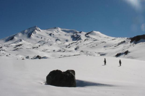 Esquiando entre volcanes II  Foto: Maylis Destremau