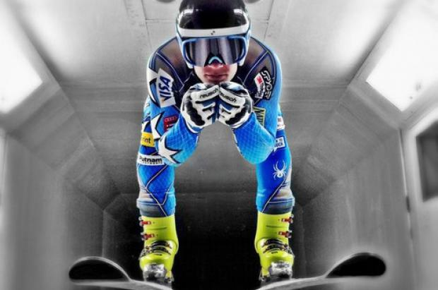 Túnel de viento con Steve Nyman (US Ski Team) y Spyder