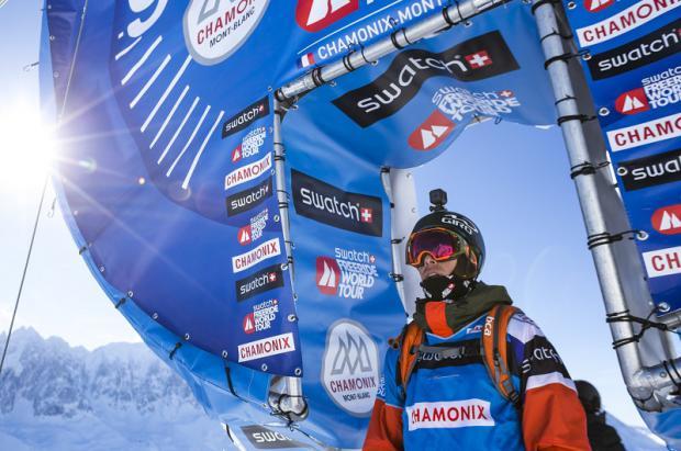 Línea de salida en la prueba de Chamonix del FWT 2016