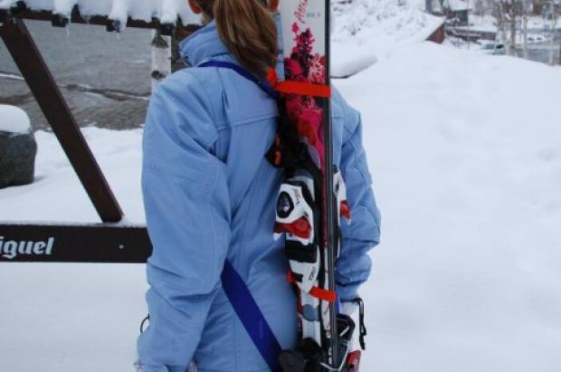 Skiback sistema transporte esquis