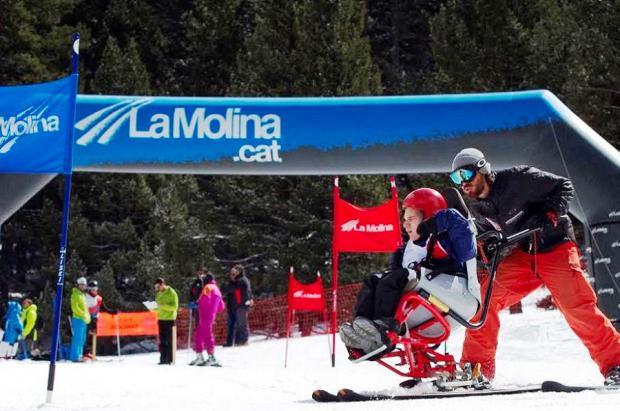 La Molina, una estación de esquí y snowboard accesible y adaptada a deportistas de distintas capacidades