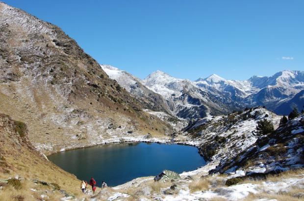 El rincón de la nieve perpetua, Ruta del Circo Glacial de Tristaina en Andorra