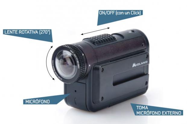 MIDLAND XTC‐400: una mini cámara de acción única e increíble