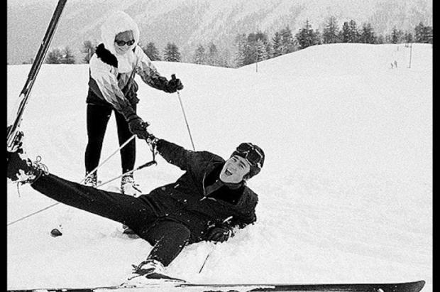 John Lennon, el beatle que esquiaba en St. Moritz