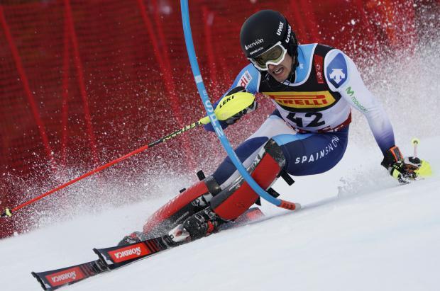 Juan del Campo, el 27 en el slalom de los Campeonatos del Mundo de esquí alpino de Äre
