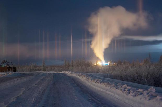 Un tsunami de nieve cubre la ciudad de Krasnoyarsk, en Siberia