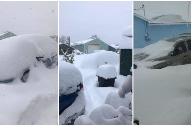 Una fuerte tormenta acumula más de 1 metro de nieve en Montana y Alberta este fin de semana