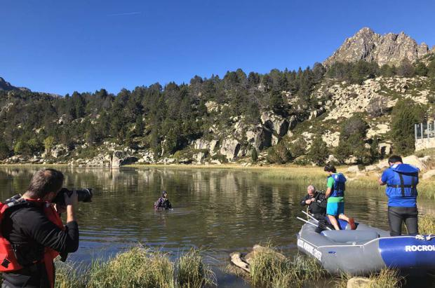 Pas de la Casa-Grau Roig destapa el cava sumergido durante un año en el lago de Pessons