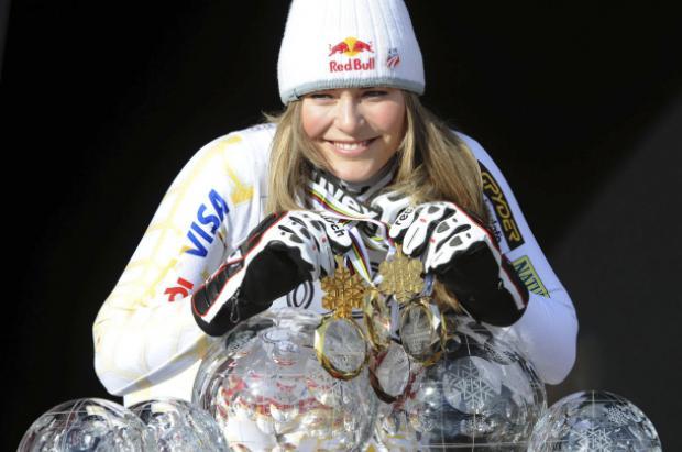 Lindsey Vonn 4 veces campeona del mundo