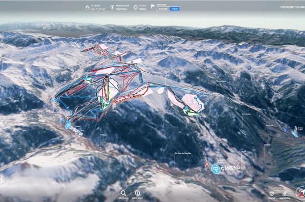 Grandvalira se acerca al futuro con los nuevos mapas de pistas en 3D y 2D de Tech4Snow