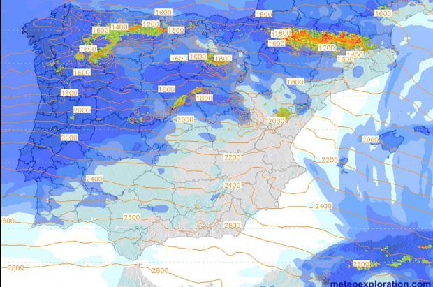 Previsión Meteo Fin de Semana: Pasito a pasito llegan las nevadas y el frío a la Península
