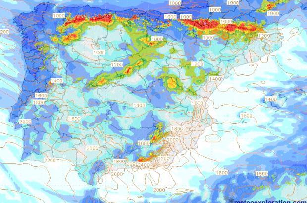 Llega la traca final a la Península con nevadas y lluvias hasta el sábado y domingo más estable