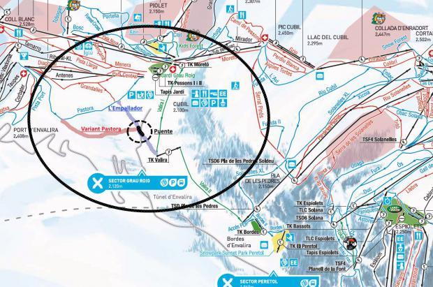 Grandvalira tendrá dos pistas más y un puente por encima de la carretera en Grau Roig