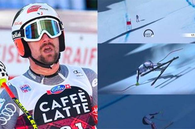 Vídeo: el esquiador Max Muzaton protagonista de la salvada de la década en Cortina