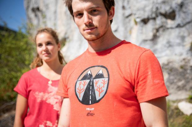 Camisetas con arte para la escalada de Millet