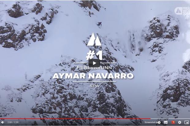 El mejor salto del Freeride World Tour 2021 es… ¡Para Aymar Navarro!