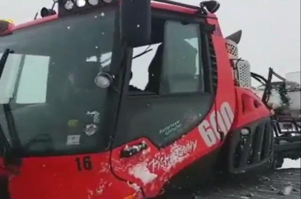 Vídeo: Las ratracs pisaban la nevada de ayer en el glaciar de Hintertux