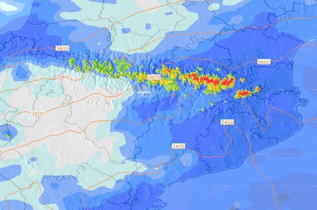 Llegan las nevadas al Pirineo y Cordillera Cantábrica con acumulados de 20 a 30 cm