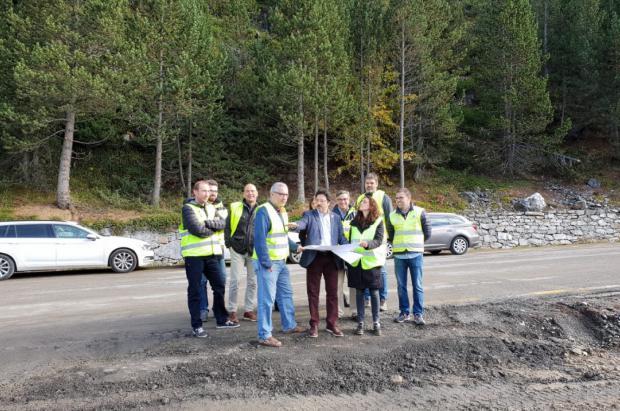 Avanzan a buen ritmo las obras de mejora de la carretera entre Baqueira y la Bonaigua
