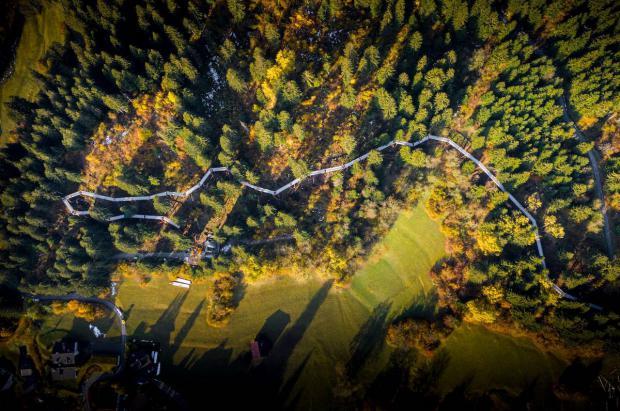 Laax estrena la pasarela por las copas de los árboles más larga del mundo