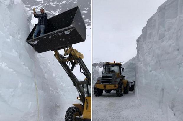 Hasta 12 metros de nieve dejan al Giro de Italia sin la ascensión al Gavia