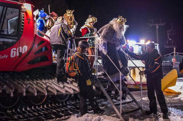 Así llegarán los Reyes Magos a las estaciones de esquí del Grup Ferrocarrils