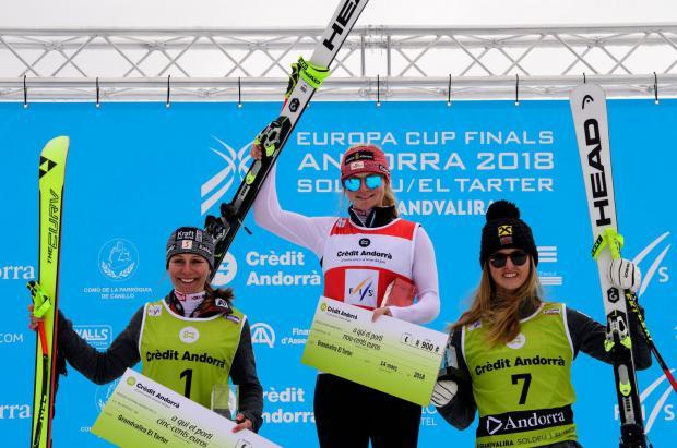 Victoria y título para la austriaca Ariane Raedle en el Descenso de Grandvalira