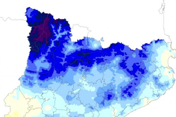 El Pirineo catalán ha tenido la primavera más lluviosa de los últimos 69 años