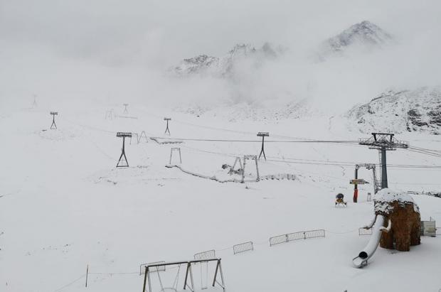 Primeras nevadas y bajas temperaturas en los Alpes y pueden continuar unos días más