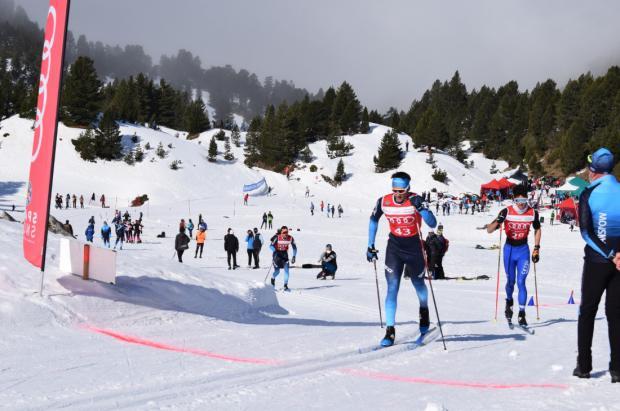 Imanol Rojo y María Iglesias tricampeones de España en los Cts. de Esquí de Fondo en Belagua