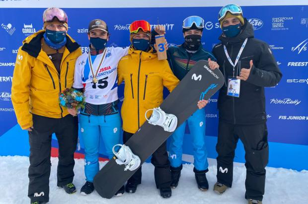 Bronce para Álvaro Romero en los Mundiales Junior FIS de Snowboardcross en Krasnoyarsk