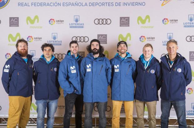 El equipo español en Moscú para disputar la Copa del Mundo de SBX