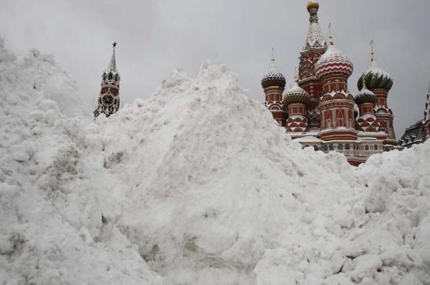 Cae sobre Moscú la mayor nevada jamás registrada en un solo día