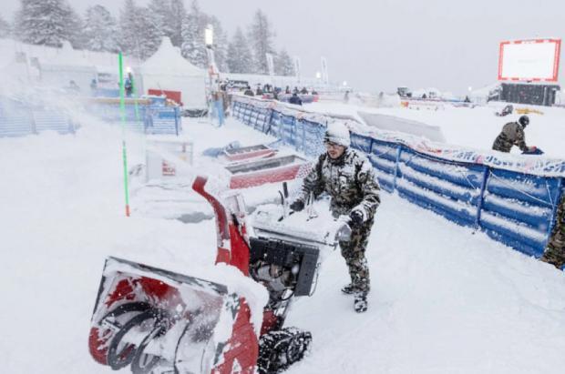 Aplazado hasta el lunes el segundo gigante de Santa Caterina por la nevada