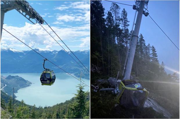 """Segundo sabotaje contra el telecabina """"Sea To Sky"""" de Squamish, en la Columbia Británica"""