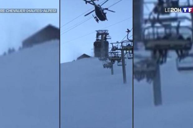 Rescatados casi un centenar de esquiadores colgados en un telesilla de Serre Chevalier