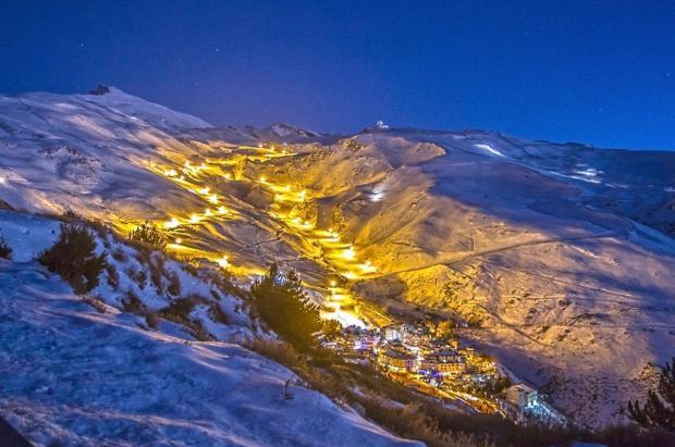 ¡Sierra Nevada enciende la luz! Pista El Río iluminada el sábado 29 de diciembre