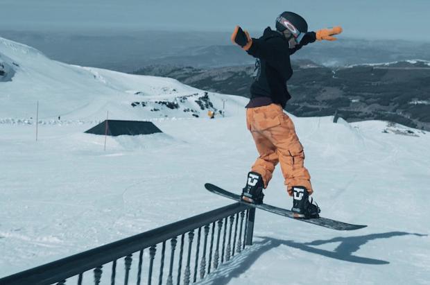El snowpark de Sierra Nevada en su mayor nivel de la temporada