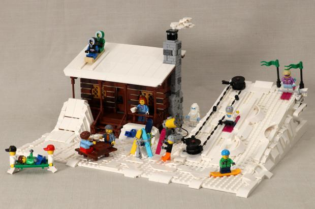 Hasta que no puedas ir a esquiar, crea tu propia estación de esquí LEGO en el salón de tu casa
