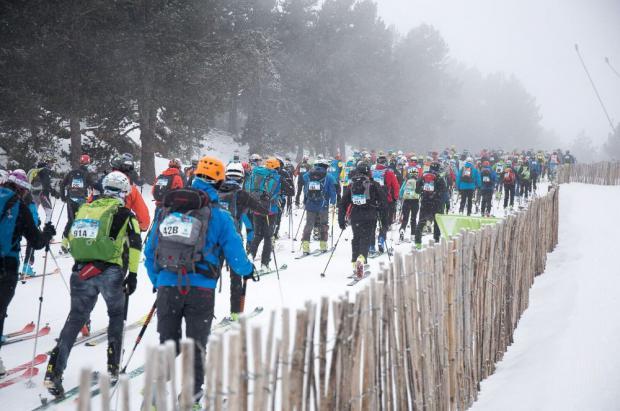 Grandvalira meeting point del esquí alpino y el skimo durante el mes de febrero